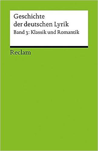Book Geschichte der deutschen Lyrik Band 3