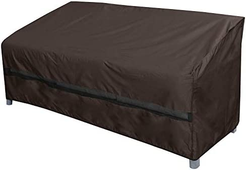 True Guard Patio Furniture Covers Waterproof Heavy Duty – Sofa or Couch Cover, 600D Rip-Stop, Fade Stain UV Resistant for Outdoor Patio Furniture, Dark Brown