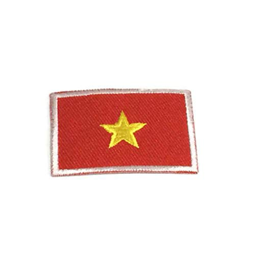 Vietnam National Flag Emblem Iron On Patch 3x4.5 cm Embroidered Backpack Country Patches -