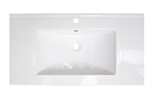 American Imaginations AI-4-1750 Ceramic Top for Single Hole Faucet, 37-Inch x 22-Inch, White from American Imaginations