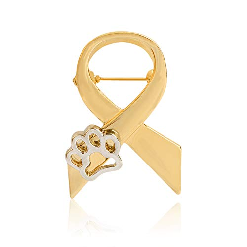 Love Paws Brooch Pin Gold Silver Cravat Tie Claw Pin Badge Stand Against Animal Abuse Awareness Pin