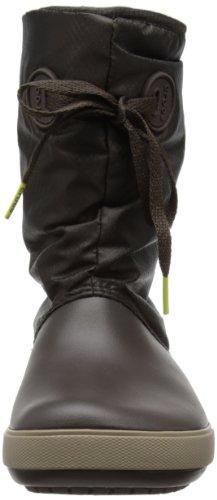 crocs Crocband II.5 Lace Boot W - Botas Antideslizantes de material sintético mujer Marrone (Espresso/Mushroom)