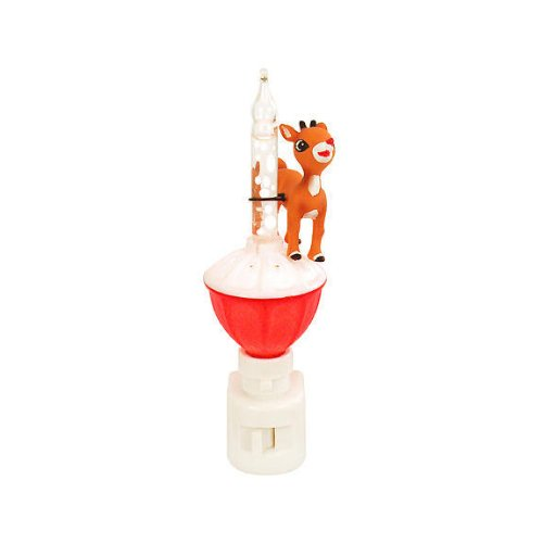 Rudolph on Snow Bubble Night Light