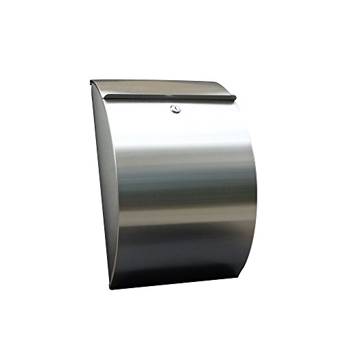 (Waterproof and rustproof Upgrade Version 2.0 Stainless Steel Wall Mounted Mailbox)