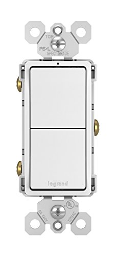 Legrand - Pass & Seymour radiant RCD11WCC6 Combination Rocker Wall Switch: 15A Single Pole/Single Pole, White
