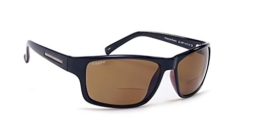 - Coyote Eyewear BP-13 Polarized Bi-Focal Reading Sunglasses in Black w/ Brown Lens ; +1.50