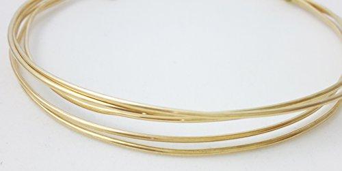 1 Ounce (8 Ft) Solid Red Brass Wire 16 Gauge, Round, Half Hard - from Craft (Red Brass Round Wire)
