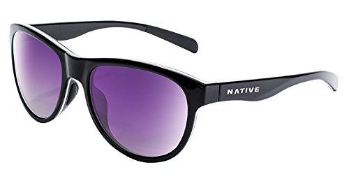 - Native Eyewear Acadia, Gloss Black/White/Gloss Black, Violet Reflex