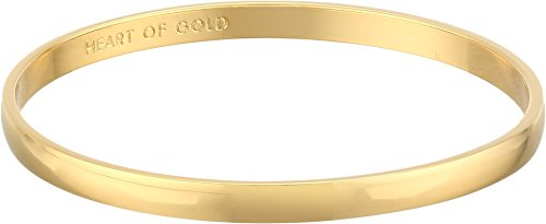 Kate Spade New York Idiom Collection Heart of Gold Bangle Bracelet, 7.75'' by Kate Spade New York
