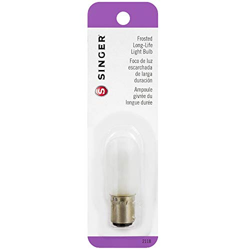Singer Long Life Light Bulb 15 Watt-120 Volt-Push-In Base (2118)
