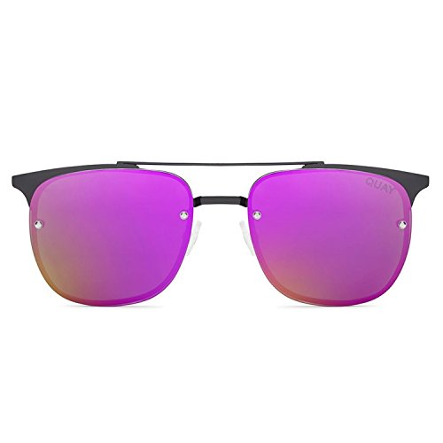 Quay Australia PRIVATE EYES Women's Sunglasses Metal Winged Frame - - Australia Sunglasses Surf