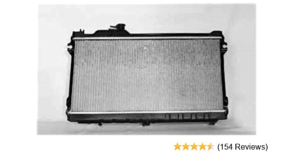 TYC 1140 Mazda Miata 1-Row Plastic Aluminum Replacement Radiator