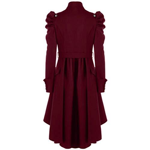 Easy Rétro Long Go FemmeManteau MRouge Pour Shopping Veste VintageFemmecouleurNoirTaille GothiqueSteampunk 7ybfgY6
