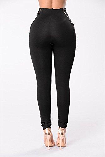 Taille Skinny Legging Stretch Noir Tenxin Solide Femmes Crayon Haute Bodycon Haute Les Pantalon Jeans Taille Denim IwxqYfO