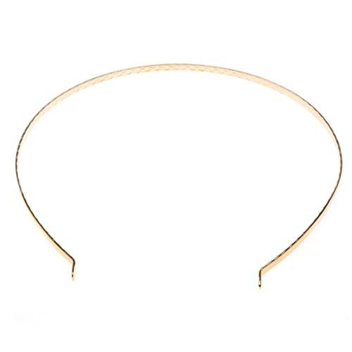 Beadaholique Plated Metal Tiara Headband Frame with Fun Craft Beading Project, 5.5-Inch, 22K Gold