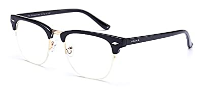 "PRIVE REVAUX ""The Entrepreneur"" Handcrafted Designer Brownline Eyeglasses"