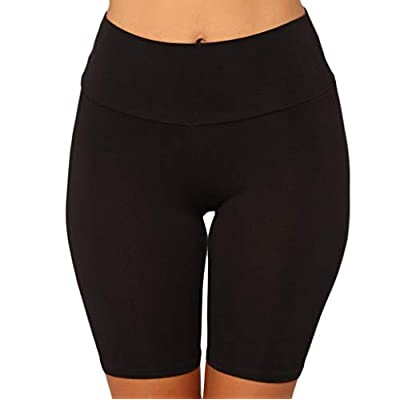 Yoga Shorts for Women High Waist, Tummy Control Workout Running Athletic Compression Non See-Through Yoga Pants with Pockets at  Women's Clothing store
