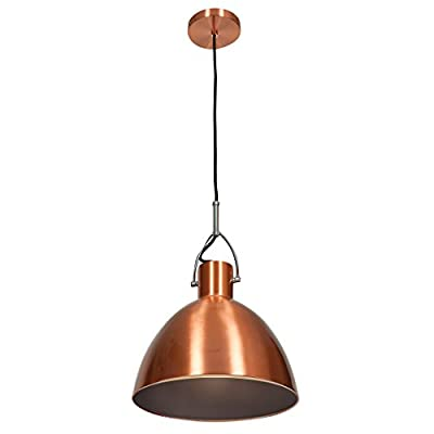 Access Lighting 28092-BCP Essence One Light Cone Pendant Finish, Brushed Copper