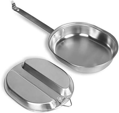 Interieur de la vaisselle US Army en acier inoxydable vaisselle Stainless Steel Mess Kit Camping Set
