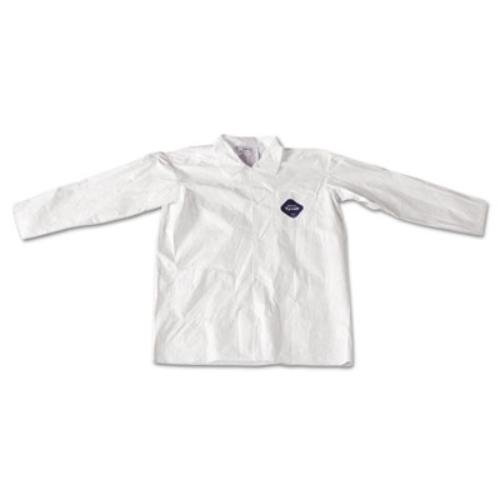 Tyvek White Lab Coat - DuPont Tyvek Lab Coat White Snap Front 2 Pockets Large 30/Carton