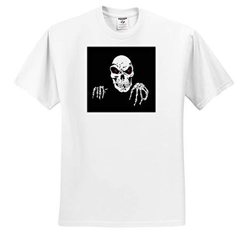 Sandy Mertens Halloween Designs - Death is Waiting Evil Skeleton with Black Background, 3drsmm - T-Shirts - Toddler T-Shirt (4T) -