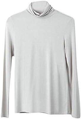 Zantt Men Slim Fit Casual Long Sleeve Turtle Neck T Shirts Tee