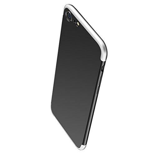 Protection Apple 360 Anti Tremp 6 1 avec en Mince JEPER Intgrale 6S pour Coque Anti Etui Ultra Membrane PC iPhone argent Housse Noir iPhone Verre Choc Scratch 3 Telephone Case ISqtqw6