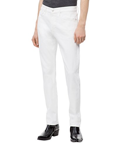 Calvin Klein Men's Slim Fit Jeans, Nantucket White, 30W x 30L