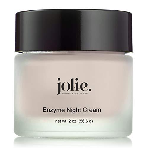 Jolie Papaya Enzyme Night Cream – Facial P.M. Moisturizer With Advanced Hydration – All Skin Types – 2 oz.