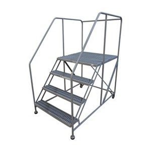 Work Platform, Rolling, Steel, 40 In H