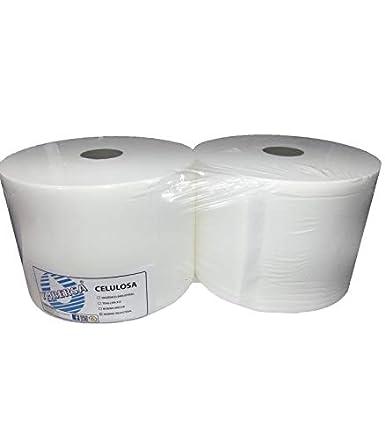 Papel Celulosa Industrial bobina. 2 rollos x 4.5 kg. 100% Virgen.: Amazon.es: Industria, empresas y ciencia