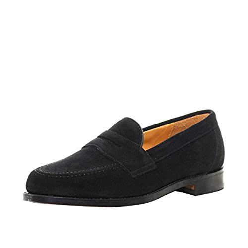 16a159aa05d Loake Men s Saddle Suede Eton Loafers Black 80%OFF - www ...