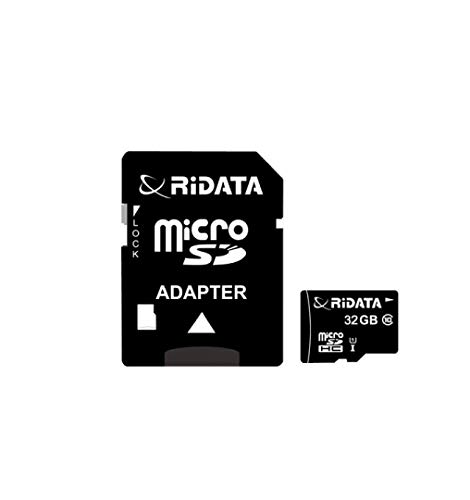RiData 32GB UHS-1 Class 10 Micro SDHC up to 87MB/s with Adapter (RDMICSDHC32G-C10U1)