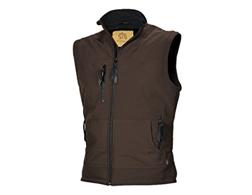 STS Ranchwear Men's Athletic Cut Softshell Vest (Brown, Large)]()