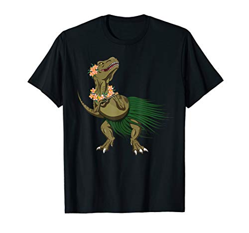 Dinosaur Ukulele Uke Love Aloha Hawaiian Holiday T-Shirt
