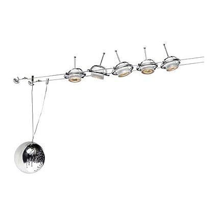 Ikea Termosfär con sistema de 5 puntos de luz baja V, chr ...
