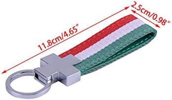 Beler Italien Schlüsselband Schlüsselanhänger Schlüsselanhänger Pu Leder Italienische Flagge Auto