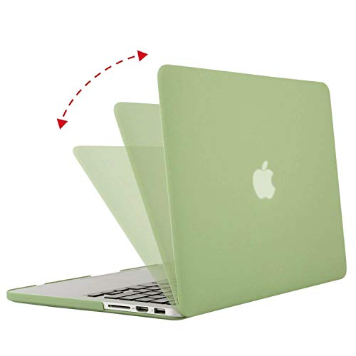MOSISO Case Only Compatible with Older Version MacBook Pro Retina 13 inch (Models: A1502 & A1425) (Release 2015 - end 2012), Plastic Hard Shell Case & Keyboard Cover & Screen Protector, Chartreuse