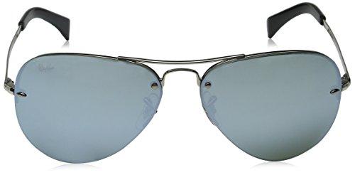 Silver Silver Ray Ban Sonnenbrille Green 3449 RB Argenté ww4a0q8x