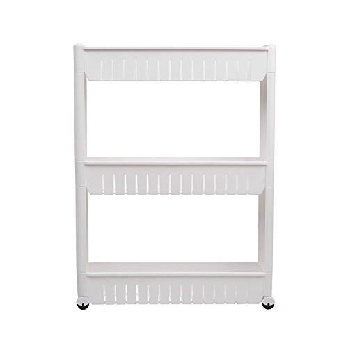 gearmax 3 ablagen nischenregal k chenregal badregal k chenregale standregal allzweckwagen mit. Black Bedroom Furniture Sets. Home Design Ideas