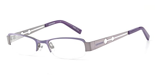 Converse ''I'm Telling'' Small Kids Fit Lightweight & Comfortable Metal Designer Reading Glasses in Lavander +3.25 by Converse