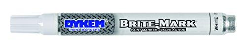 (Dykem Brite-Mark Paint Marker, Valve Action  - White)