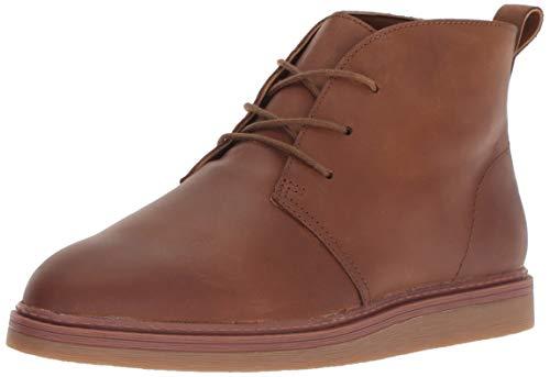 CLARKS Women's Dove Roxana Chukka Boot, Dark tan Leather, 090 M US