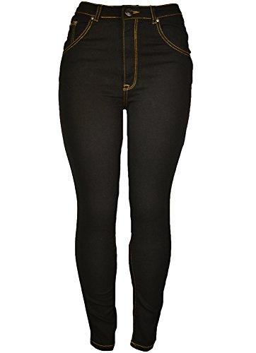 143Fashion Ladies Fashion Stretch Jeans w/ Back Pockets (1, Black)
