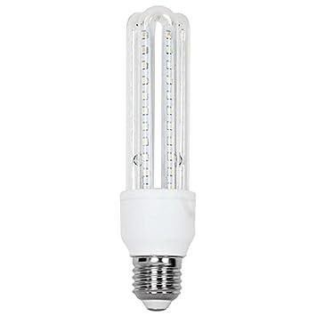Bombilla led bajo consumo 9w 3000k e27 (720lum) serie t33u: Amazon.es: Electrónica