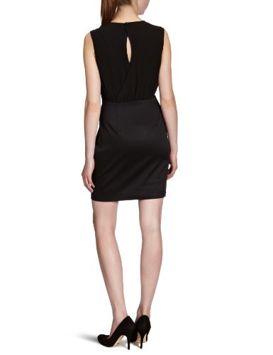 VERO MODA Damen Kleid (mini), 10082427 BELFAST SL SHORT DRESS Schwarz (Black)