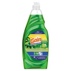 Gain Professional Manual Pot and Pan Dish Detergent, Gain Original, 38 oz Bottle - Gamble Manual Dishwashing Detergent