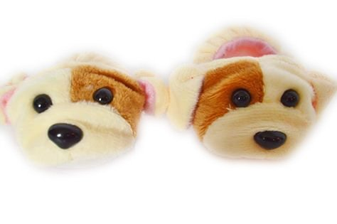 Doll Slippers - Brittany's Light Brown Puppy Slippers Compatible with American Girl Dolls