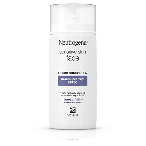 (Neutrogena Face Sunscreen for Sensitive Skin from Naturally Sourced Ingredients with Zinc Oxide, Broad Spectrum SPF 50, 1.4 fl. Oz)