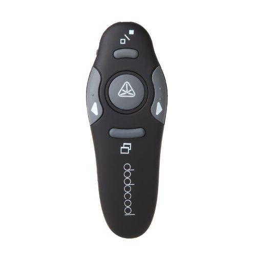 DODOCOOL Wireless Schnurloser Presenter Fernsteuerung Kabellose Powerpoint Fernbedienung bis zu 15 Meter entfernt mit rotem Laserpointer- Laser emittierende Leistung unter 0,5 mW
